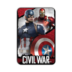 Captain America Civil War Looking at Ironman Fridge Magnet - Multicolor