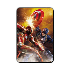 Captain America Civil War Captain & Iron Action Fridge Magnet - Multicolor