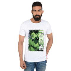 Comic The Incredible Hulk in Anger White T-Shirt for Men