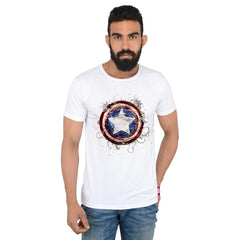 Captain America Captain Shield White T-Shirt for Men