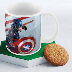 Civil War Captain America Art Multicolor Coffee Mug - 350 ml