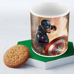 Civil War Captain America Theme Multicolor Coffee Mug - 350 ml