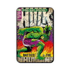 Hulk Comic Battles The Humans Fridge Magnet - Multicolor