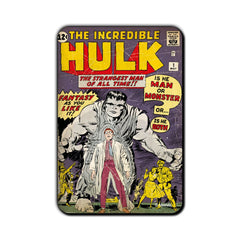 Hulk Comic The Strangest Man of All Times!! Fridge Magnet - Multicolor