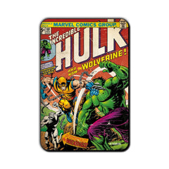Hulk Comic Fight with Wolverine! Fridge Magnet - Multicolor