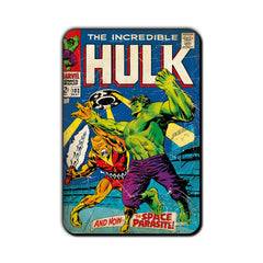Hulk Comic And Now… The Space Parasite! Fridge Magnet - Multicolor