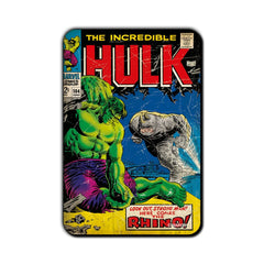 Hulk Comic Look Out Rhino! Fridge Magnet - Multicolor