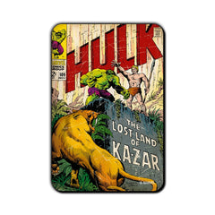 Hulk Comic Lost Land of Ka-Zar Fridge Magnet - Multicolor