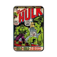 Hulk Comic It's Hulk vs. Hulk Fridge Magnet - Multicolor