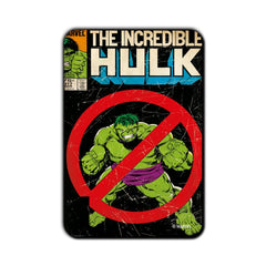 Hulk Comic Banned Fridge Magnet - Multicolor