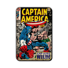 Captain America Comic Cap Goes WILD! Fridge Magnet - Multicolor