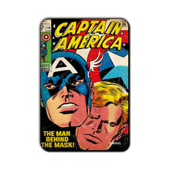 Captain America Comic The Man Behind the Mask! Fridge Magnet - Multicolor