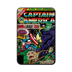 Captain America Comic Doom is The Black Star! Fridge Magnet - Multicolor