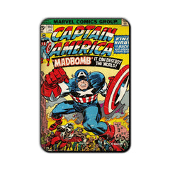 Captain America Comic Madbomb Fridge Magnet - Multicolor