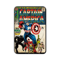 Captain America Comic Big Premiere Issue! Fridge Magnet - Multicolor