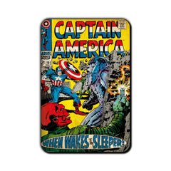 Captain America Comic When Wakes The Sleeper! Fridge Magnet - Multicolor