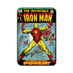 Captain America Comic Birth of the Power! Fridge Magnet - Multicolor