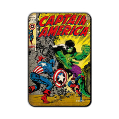 Captain America Comic Fight with Hulk Fridge Magnet - Multicolor