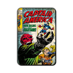 Captain America Comic Now Begins the Nightmare! Fridge Magnet - Multicolor