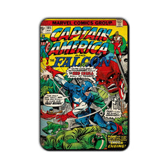 Captain America Comic The Falcon & Captain America vs. Red Skull Fridge Magnet - Multicolor