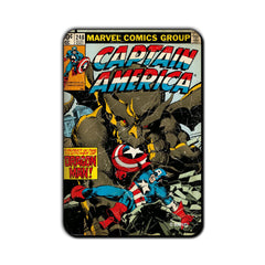 Captain America Comic Caught in the Clutches of Dragon Man! Fridge Magnet - Multicolor