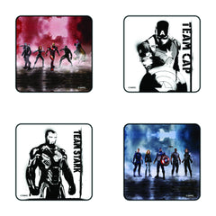 Civil War Team Captain vs. Team Stark Coaster Set of 4 - Multi Color