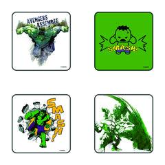 Comic Hulk Smash Coaster Set of 4 - Multi Color