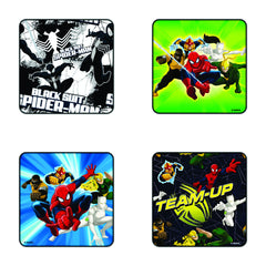 Comic Ultimate Spiderman Team up Coaster Set of 4 - Multi Color