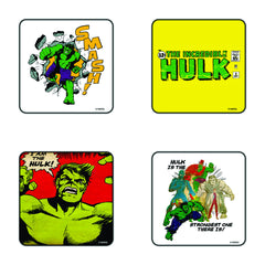 Comic The Incredible Hulk Coaster Set of 4 - Multi Color