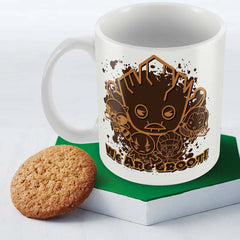 Kawaii Art Guardians of The Galaxy We Are Groot Multicolor Coffee Mug - 350 ml
