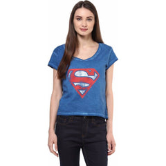 Superman Hope Logo Blue T-Shirt for Women