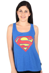Superman Logo Dark Blue Tank for Women