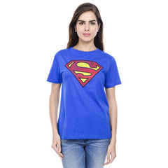 Superman Hope Logo Dark Blue Tee for Women