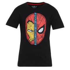 Spiderman Home Coming Faceoff Black T-Shirt for Boy