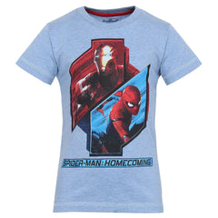 Spiderman Home Coming in Action Light Blue T-Shirt for Boy