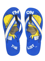 Simpson Homer On List Royal Blue Flip Flops for Men and Women