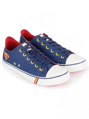 Superman Logo of Hope Unisex Canvas Shoes - Blue