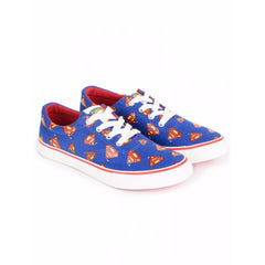 Superman Small Logos Unisex Canvas Shoes - Blue and Red