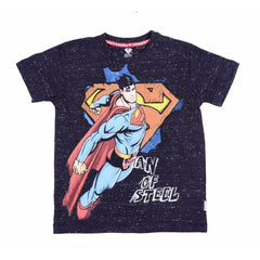Superman Man of Steel Navy T-Shirt for Boys