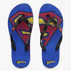 Superman Life Quotes Royal Blue Flip Flops for Men and Women