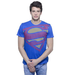 Superman Big Hope Logo Blue T-Shirt for Men