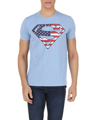 Superman Logo in Forest Light Blue T-Shirt for Men