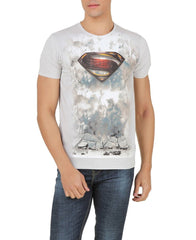 Superman Logo in Forest Light Grey T-Shirt for Men