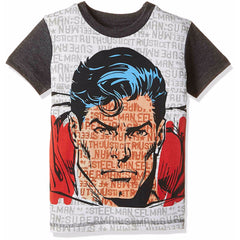 Comic Superman Man of Steel Multi T-Shirt for Boys