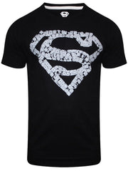 Superman Logo Painted in Radium Black T-Shirt for Men