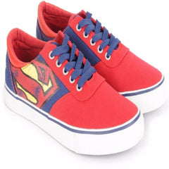 Superman Fading Logo of Hope Unisex Canvas Shoes - Red