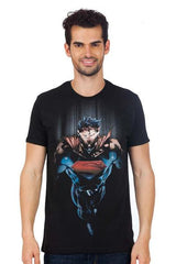 Superman Rising Black T-Shirt for Men