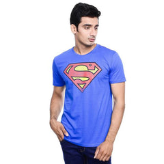 Superman Logo Blue T-Shirt for Men