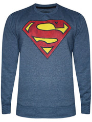 Superman Logo Blue Grey T-Shirt for Men