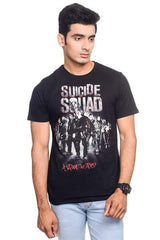 Suicide Squad In Squad we Trust Black T-Shirt for Men